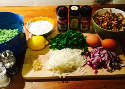 Broccoli Fritter Ingredients