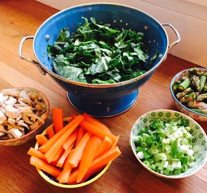 Buckwheat Salad Prep
