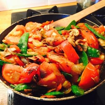 Stir Fry Cabbage Wraps Prep