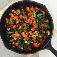 Huevos Rancheros with Kale