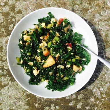 Peach Kale Salad