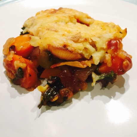 Serving of Vegetarian Shepherds Pie
