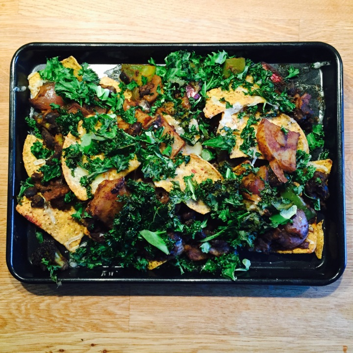 Veggie Nachos with Kale