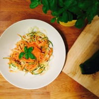 Courgetti with Quick Chickpea Tomato Sauce