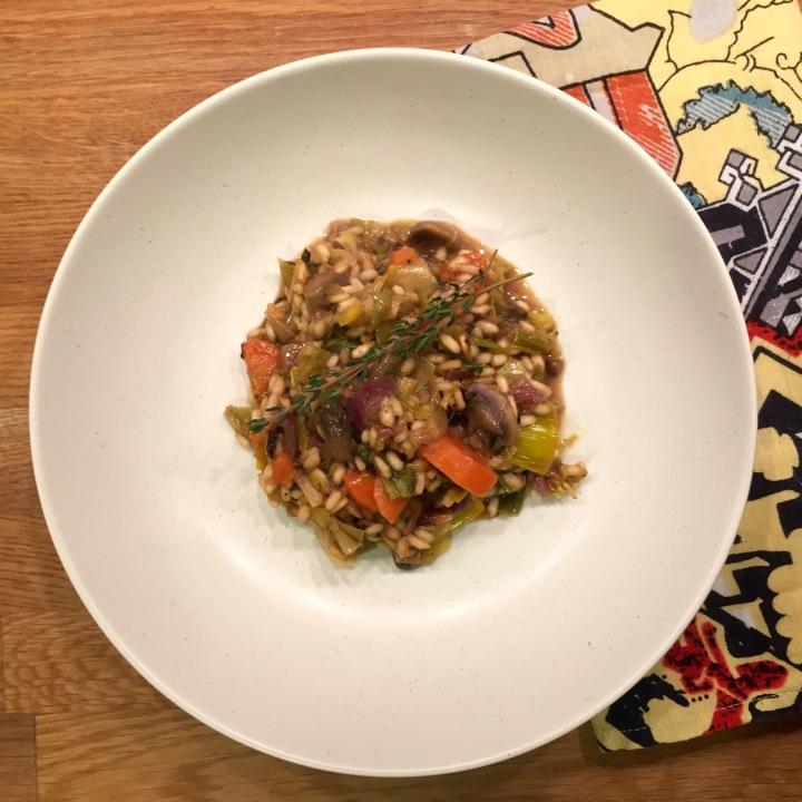 Carrot, Mushroom & LeekRisotto