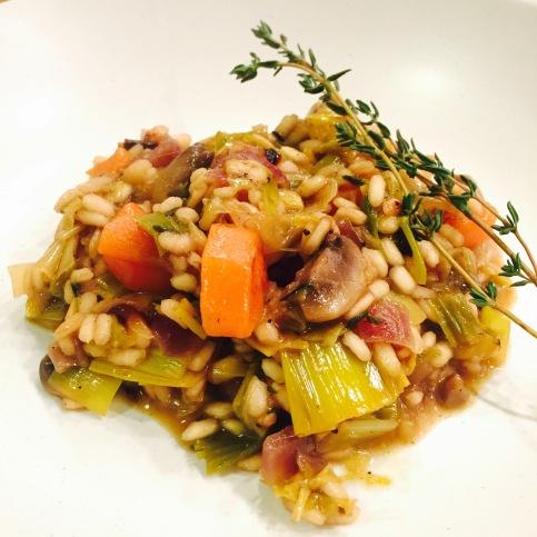 carrot-mushroom-leek-risotto