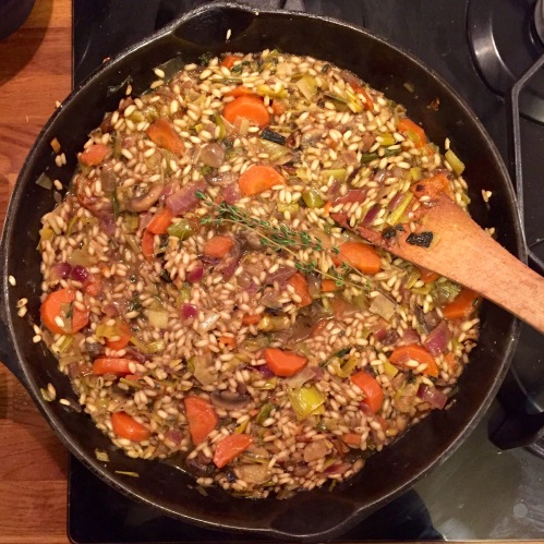 mushroom-leek-and-carrot-risotto-prep