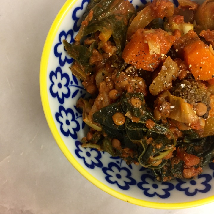 Vegan Roasted Root Vegetable & Tomato Stew